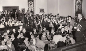 Sunday School Assembly in the late 1940's